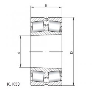 190 mm x 340 mm x 92 mm  Loyal 22238 KCW33 spherical roller bearings