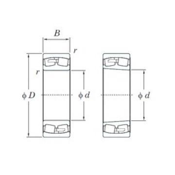 190 mm x 340 mm x 92 mm  KOYO 22238R spherical roller bearings
