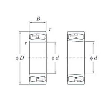 190 mm x 340 mm x 92 mm  KOYO 22238RHAK spherical roller bearings