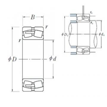 190 mm x 340 mm x 92 mm  NSK 22238CAE4 spherical roller bearings
