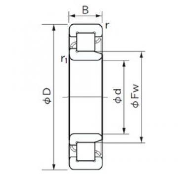 190 mm x 340 mm x 92 mm  NACHI NJ 2238 E cylindrical roller bearings
