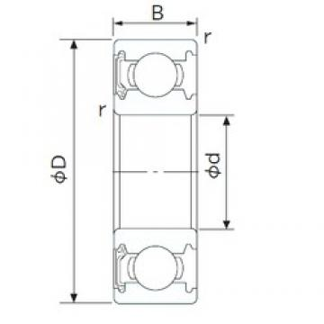 170 mm x 310 mm x 52 mm  CYSD 6234-RS deep groove ball bearings