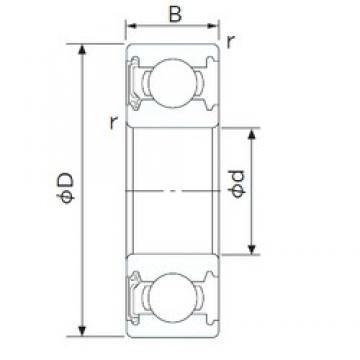 80 mm x 140 mm x 26 mm  NACHI 6216NSL deep groove ball bearings