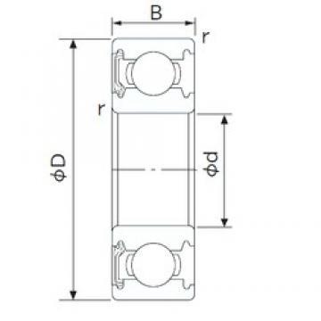 45 mm x 58 mm x 7 mm  NACHI 6809NKE deep groove ball bearings