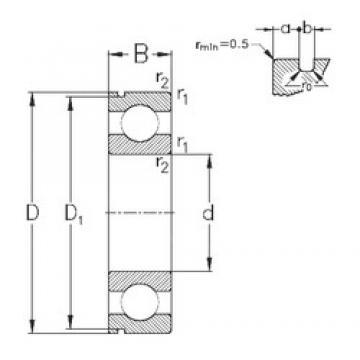 50 mm x 110 mm x 27 mm  NKE 6310-N deep groove ball bearings