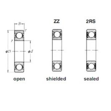 15 mm x 42 mm x 13 mm  Loyal 6302 deep groove ball bearings