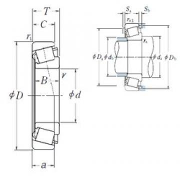 55 mm x 120 mm x 29 mm  NSK HR30311DJ tapered roller bearings