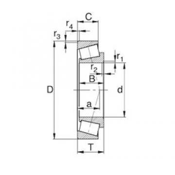 30 mm x 72 mm x 19 mm  KBC 30306C tapered roller bearings