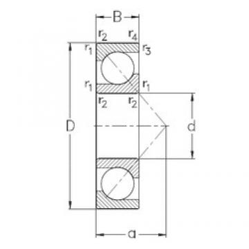 50 mm x 110 mm x 27 mm  NKE 7310-BE-TVP angular contact ball bearings