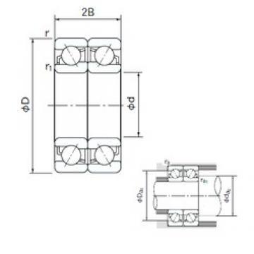 120 mm x 180 mm x 28 mm  NACHI 7024CDF angular contact ball bearings