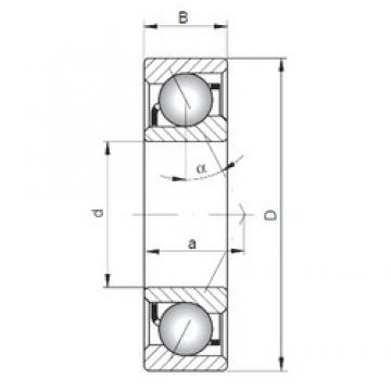 120 mm x 180 mm x 28 mm  ISO 7024 A angular contact ball bearings