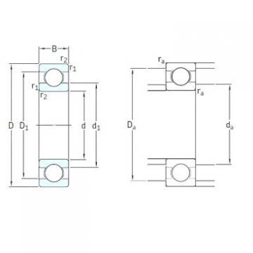 65 mm x 120 mm x 23 mm  SKF 6213-2RS1/HC5C3WT deep groove ball bearings