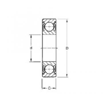 15 mm x 42 mm x 13 mm  Timken 302KDD deep groove ball bearings