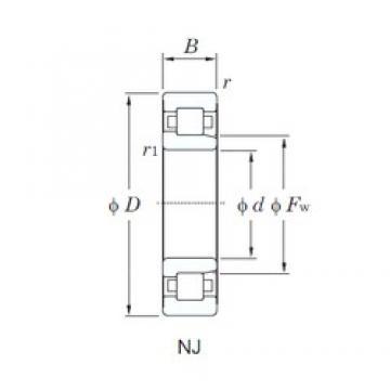 80 mm x 140 mm x 26 mm  KOYO NJ216R cylindrical roller bearings