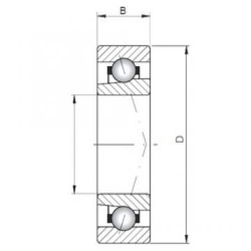 Loyal 7024 ATBP4 angular contact ball bearings