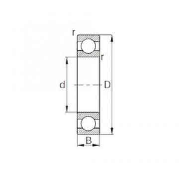 15 mm x 42 mm x 13 mm  KBC HC6302 deep groove ball bearings