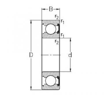 65 mm x 120 mm x 23 mm  NKE 6213-2RSR deep groove ball bearings