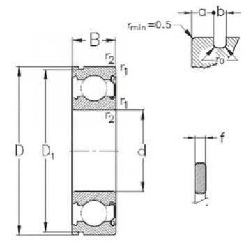 50 mm x 110 mm x 27 mm  NKE 6310-Z-NR deep groove ball bearings