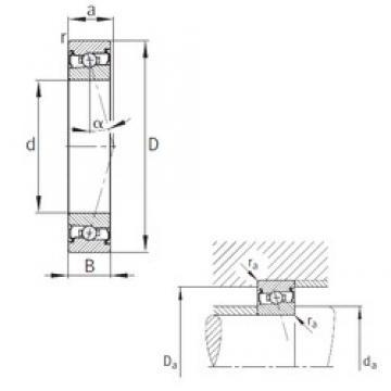 120 mm x 180 mm x 28 mm  FAG HCS7024-C-T-P4S angular contact ball bearings