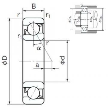120 mm x 180 mm x 28 mm  NACHI 7024 angular contact ball bearings