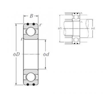 15 mm x 42 mm x 13 mm  NTN AC-6302 deep groove ball bearings