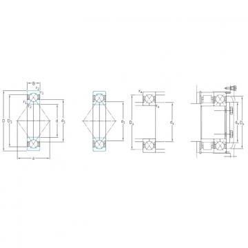 50 mm x 110 mm x 27 mm  SKF QJ310MA angular contact ball bearings
