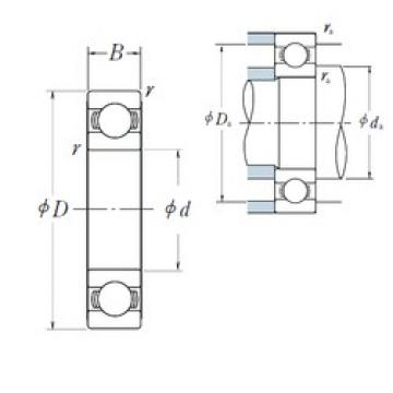 45 mm x 58 mm x 7 mm  NSK 6809 deep groove ball bearings