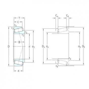 30 mm x 72 mm x 19 mm  SKF 30306J2/Q tapered roller bearings