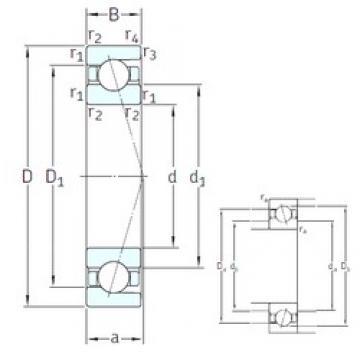 45 mm x 58 mm x 7 mm  SNFA SEA45 7CE3 angular contact ball bearings