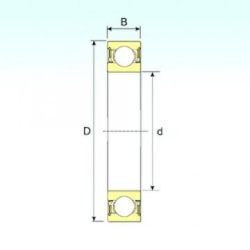 45 mm x 58 mm x 7 mm  ISB 61809-2RZ deep groove ball bearings