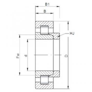 190 mm x 340 mm x 92 mm  Loyal NH2238 E cylindrical roller bearings