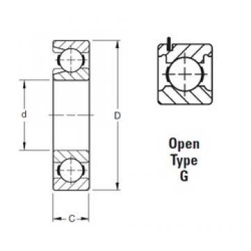 50 mm x 110 mm x 27 mm  Timken 310WG deep groove ball bearings