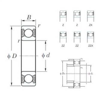 120 mm x 180 mm x 28 mm  KOYO 6024ZX deep groove ball bearings