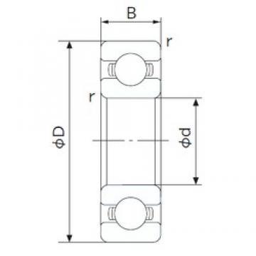50 mm x 110 mm x 27 mm  NACHI 6310 deep groove ball bearings