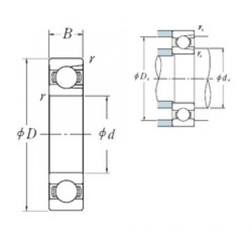 80 mm x 140 mm x 26 mm  NSK BL 216 deep groove ball bearings