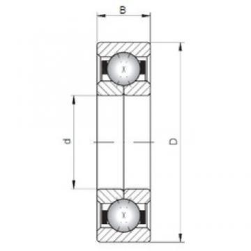 ISO QJ302 angular contact ball bearings