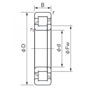170 mm x 310 mm x 52 mm  NACHI NUP 234 cylindrical roller bearings