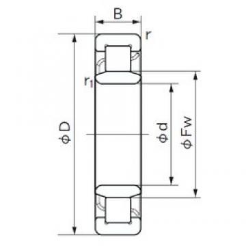 170 mm x 310 mm x 52 mm  NACHI NU 234 cylindrical roller bearings
