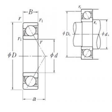 80 mm x 140 mm x 26 mm  NSK 7216 C angular contact ball bearings