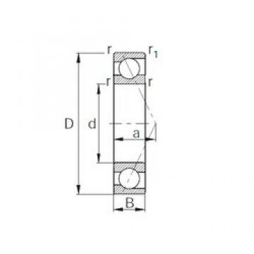45 mm x 58 mm x 7 mm  CYSD 7809C angular contact ball bearings