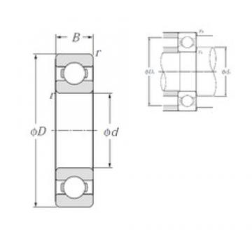 50 mm x 110 mm x 27 mm  NTN 6310 deep groove ball bearings
