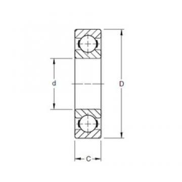 65 mm x 120 mm x 23 mm  Timken 213K deep groove ball bearings