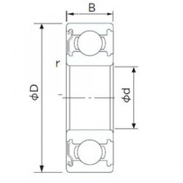 15 mm x 42 mm x 13 mm  NACHI 6302ZE deep groove ball bearings