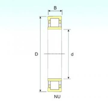 170 mm x 310 mm x 52 mm  ISB NU 234 cylindrical roller bearings