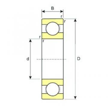 45 mm x 58 mm x 7 mm  ISB 61809 deep groove ball bearings