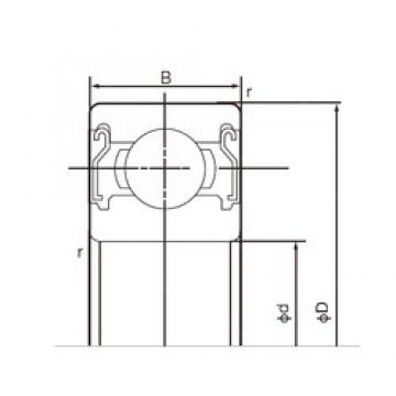 15 mm x 42 mm x 13 mm  NACHI 6302ZZE deep groove ball bearings