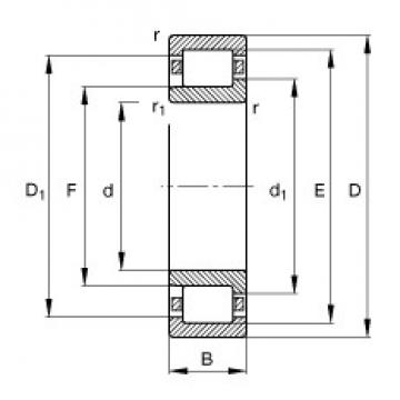 190 mm x 340 mm x 92 mm  FAG NJ2238-E-M1 cylindrical roller bearings