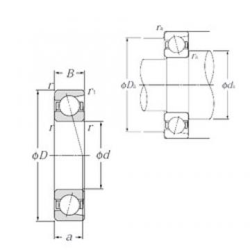 50 mm x 110 mm x 27 mm  NTN 7310 angular contact ball bearings