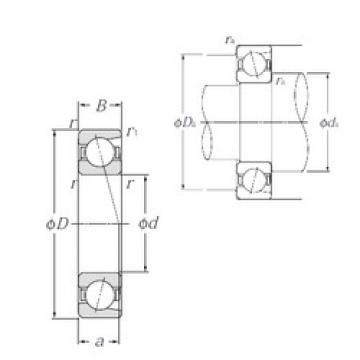 50 mm x 110 mm x 27 mm  NTN 7310C angular contact ball bearings