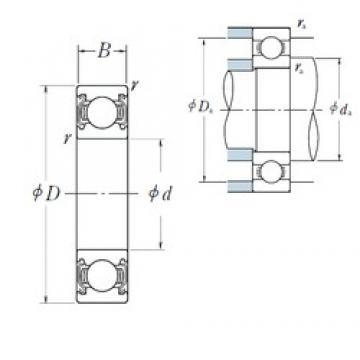 80 mm x 140 mm x 26 mm  NSK 6216ZZ deep groove ball bearings